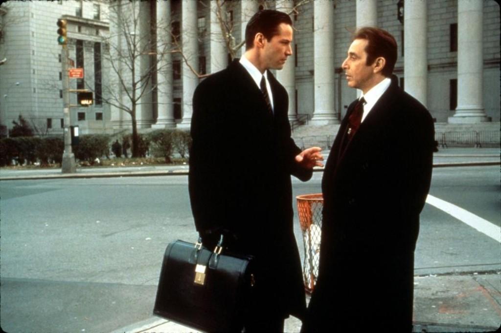 """Киану Ривз и Аль Пачино. Сцена из фильма: """"Адвокат дьявола"""""""